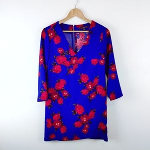 DYNAMITE   Floral Tunic-Blouse Ladies Extra Small